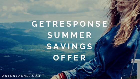 GetResponse Special Summer Savings Festival Offer