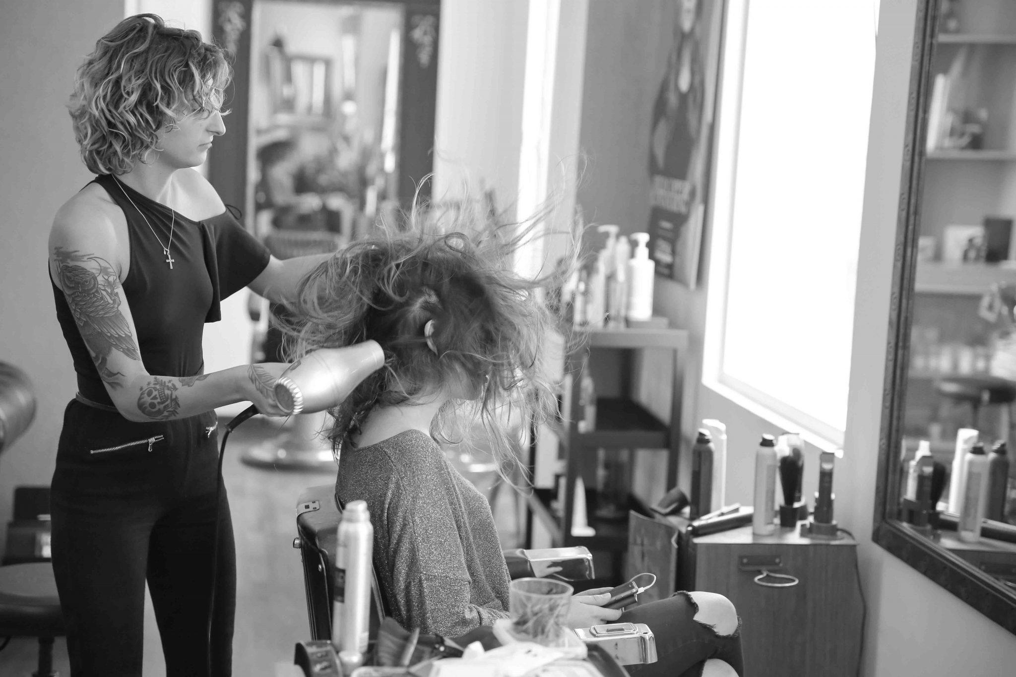 Préparatif coiffure Mariée