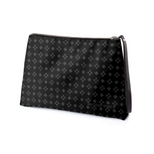 antony yorck business clutch tasche charlotte pattern print purple black white 135120 02
