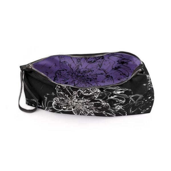 antony yorck clutch abendtasche mit mirabellenblüte floral print purple black white 135151 03