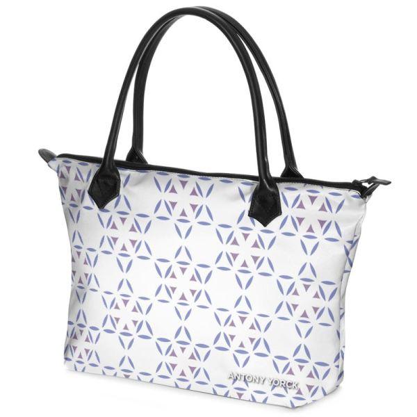 antony yorck shopper tasche vivalifa floral pattern print style purple white 138376 02