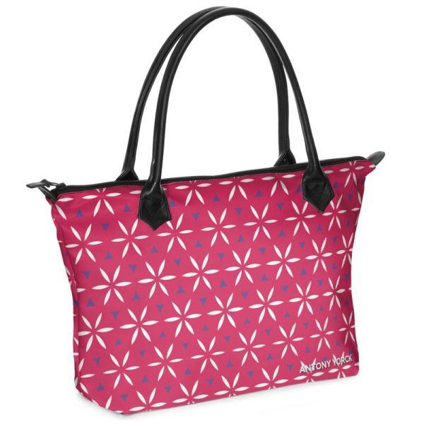 antony yorck shopper tasche vivalifa raspberry floral pattern print style purple white magenta 140470 01