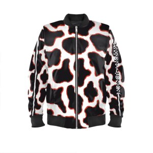 antony yorck blouson bomberjacke kf 001 cow animal print magenta white black 161061 01