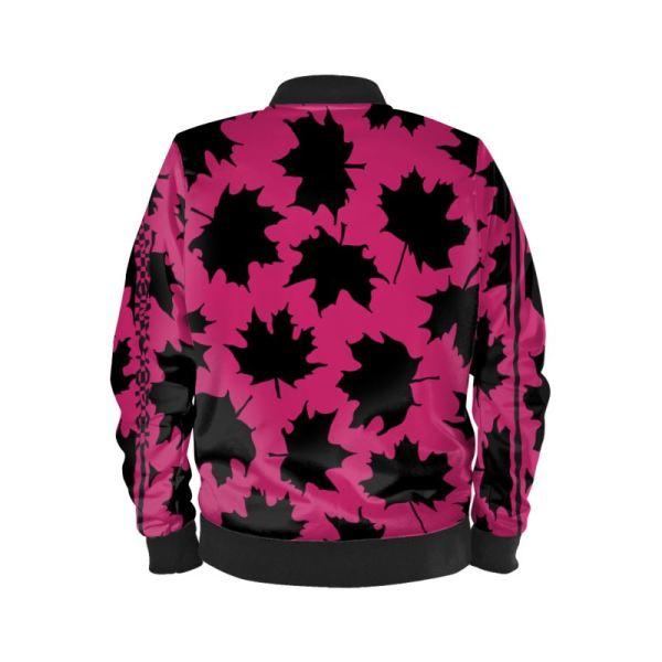 antony yorck blouson bomberjacke ml 006 maple leaf magenta black 161057 02
