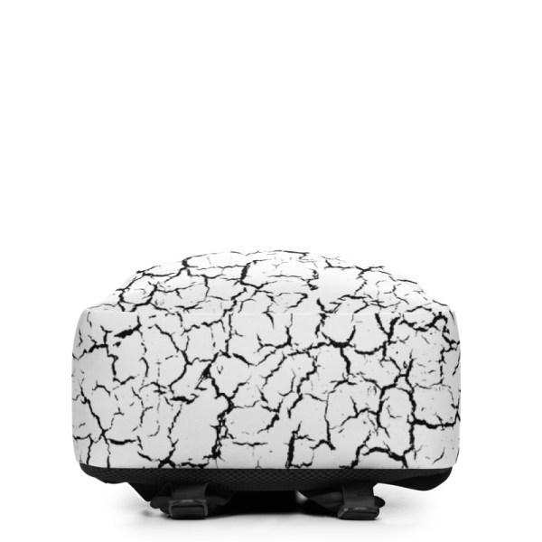 antony yorck rucksack craquelee weiss logo schwarz extra fach laptop notebook 15 zoll plus geheimfach wasserfest ansicht unterseite