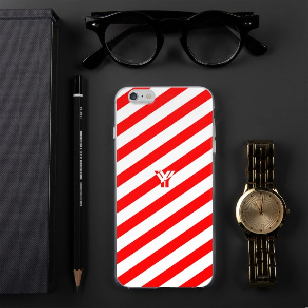 Antony Yorck • IPhone Hülle white and red • Collection OBVIOUS 9 mockup 210c3ab3