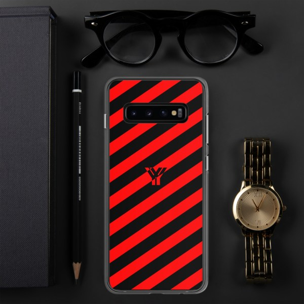 antony yorck accessoire samsung phone cases stripes black and red collection obvious 033