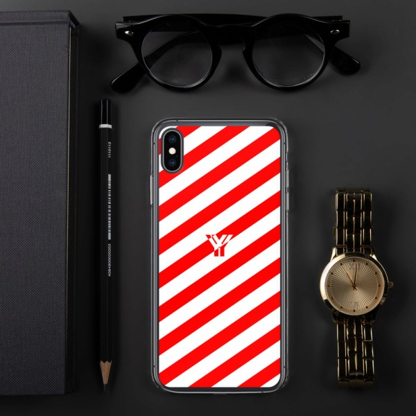 Antony Yorck • IPhone Hülle white and red • Collection OBVIOUS 30 mockup c42b5207