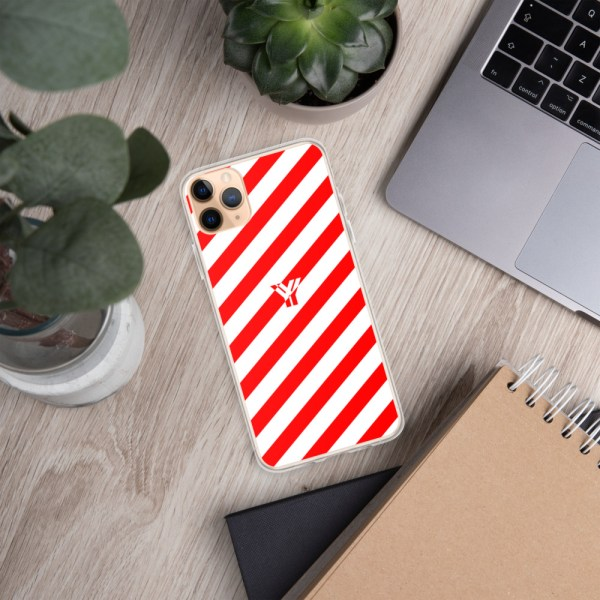 Antony Yorck • IPhone Hülle white and red • Collection OBVIOUS 8 mockup d80adabb