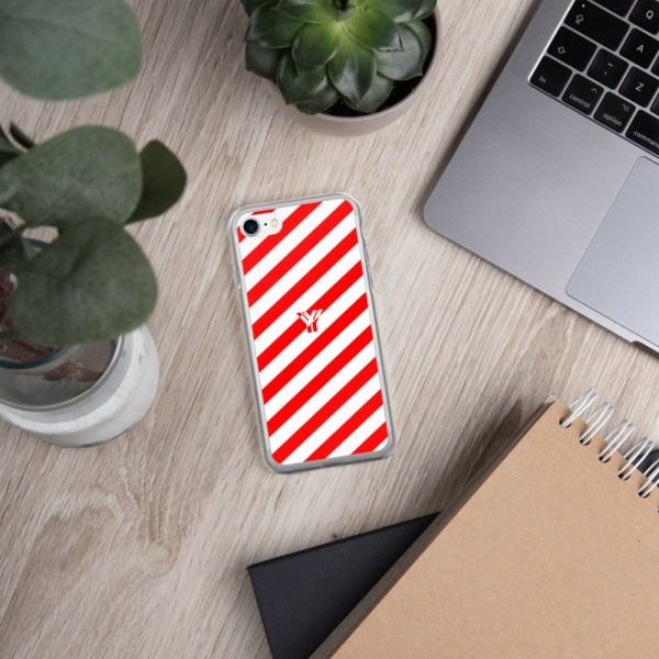 Antony Yorck • IPhone Hülle white and red • Collection OBVIOUS 23 mockup ead83b38
