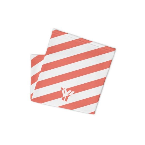 Antony Yorck • Multifunktionstuch coral / korall weiß schräg gestreift • collection OBVIOUS 2 antony yorck multifunktionstuch coral weiss gestreift schlauchschal beachwear 0035 1