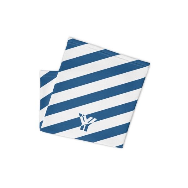 Antony Yorck • Multifunktionstuch blau weiß schräg gestreift • collection OBVIOUS 2 antony yorck multifunktionstuch blau weiss gestreift schlauchschal0034