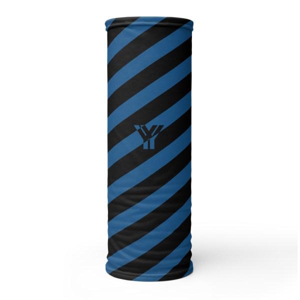Antony Yorck • Multifunktionstuch navy blue schwarz schräg gestreift • collection OBVIOUS 1 antony yorck multifunktionstuch navy blau schwarz gestreift schlauchschal 0014