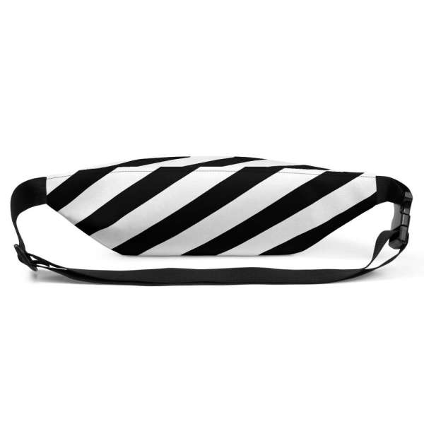 Antony Yorck • Gürteltasche • Fanny Pack • black and white stripes 4 mockup 6ffb6473