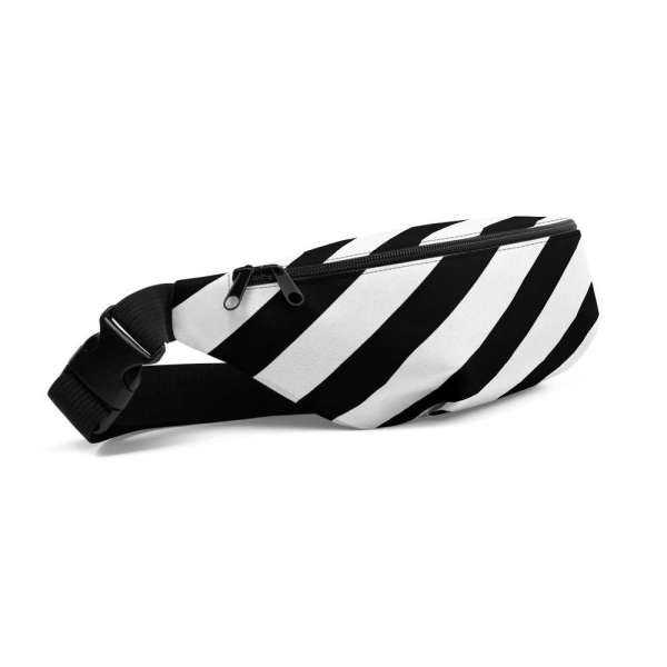 Antony Yorck • Gürteltasche • Fanny Pack • black and white stripes 1 mockup a8cc8408