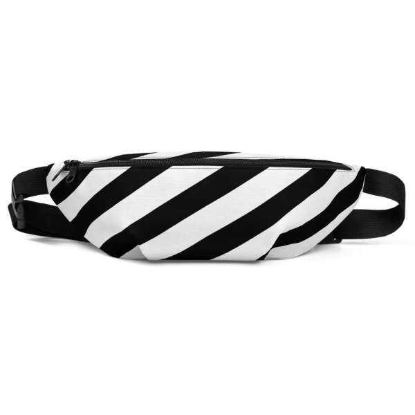 Antony Yorck • Gürteltasche • Fanny Pack • black and white stripes 2 mockup d5992f12