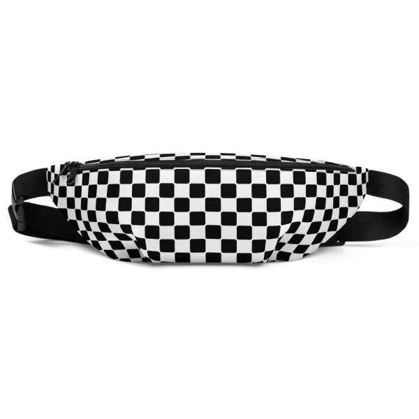 Antony Yorck • Gürteltasche • Fanny Pack • black and white checkers 2 mockup e12e4111