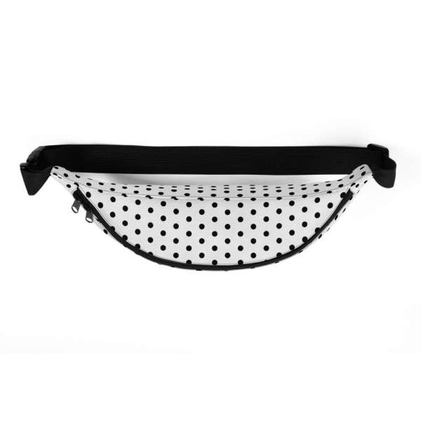 Antony Yorck • Gürteltasche • Fanny Pack • white and black dots 3 mockup e709704e