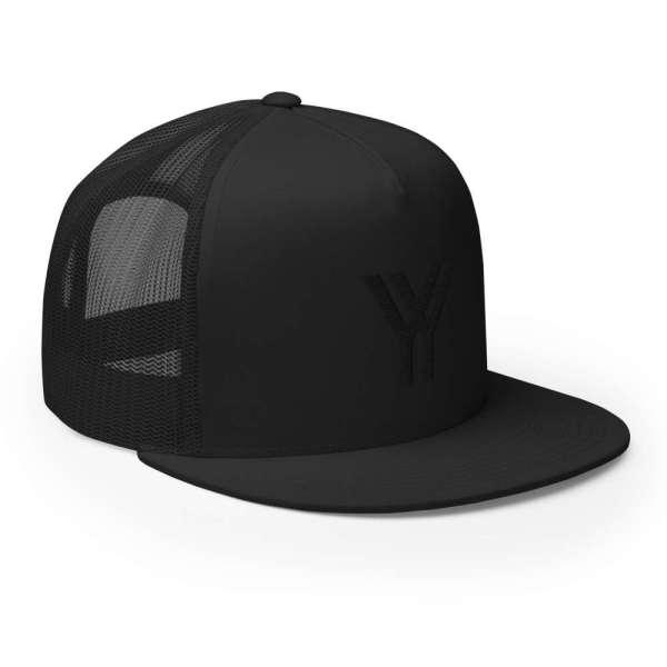 Baseball Cap YY Flat Bill Trucker Cap 6 mockup 7ec5407b