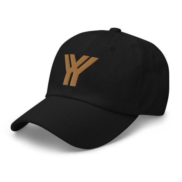 Baseball Cap YY Logo ANTONY YORCK black old gold 3 baseball cap yy logo antony yorck black old gold 10 side
