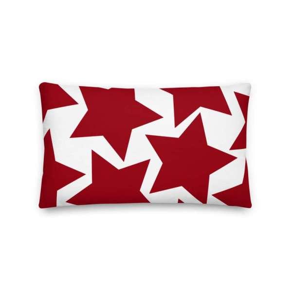 Sofakissen Sterne rot auf weiß 4 mockup 1bb6b2d5