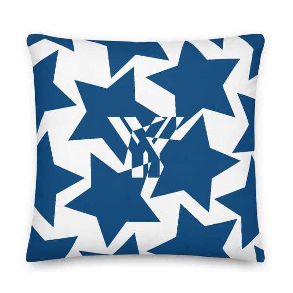 Dekoratives Sofa Kissen • Throw Pillow • Stars Blue on White 5 mockup 91b4aaee