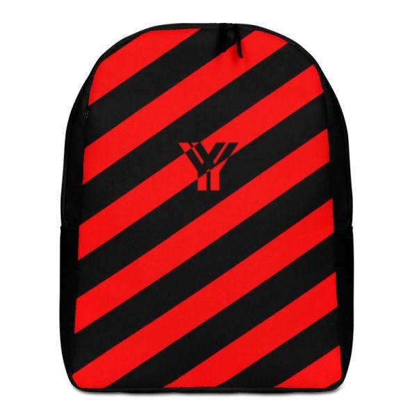 RUCKSACK STRIPES BLACK RED MIT LAPTOPFACH + GEHEIMFACH 1 rucksack backpack laptopfach pocket for laptop stripes black red 02