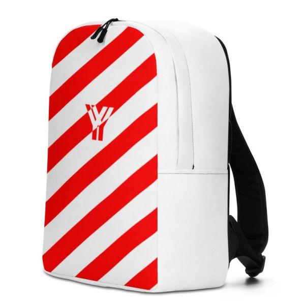 RUCKSACK STRIPES WHITE RED MIT LAPTOPFACH + GEHEIMFACH 2 rucksack backpack laptopfach pocket for laptop stripes white red 07