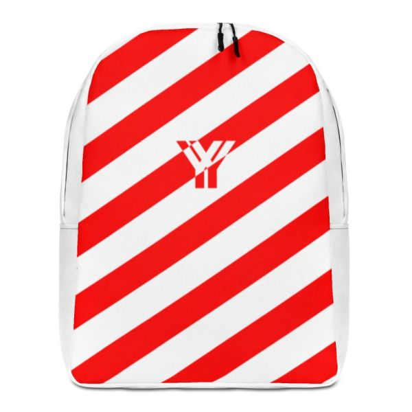RUCKSACK STRIPES WHITE RED MIT LAPTOPFACH + GEHEIMFACH 1 rucksack backpack laptopfach pocket for laptop stripes white red 08