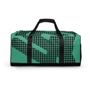 sporttasche trainingstasche houndstooth logo green front view