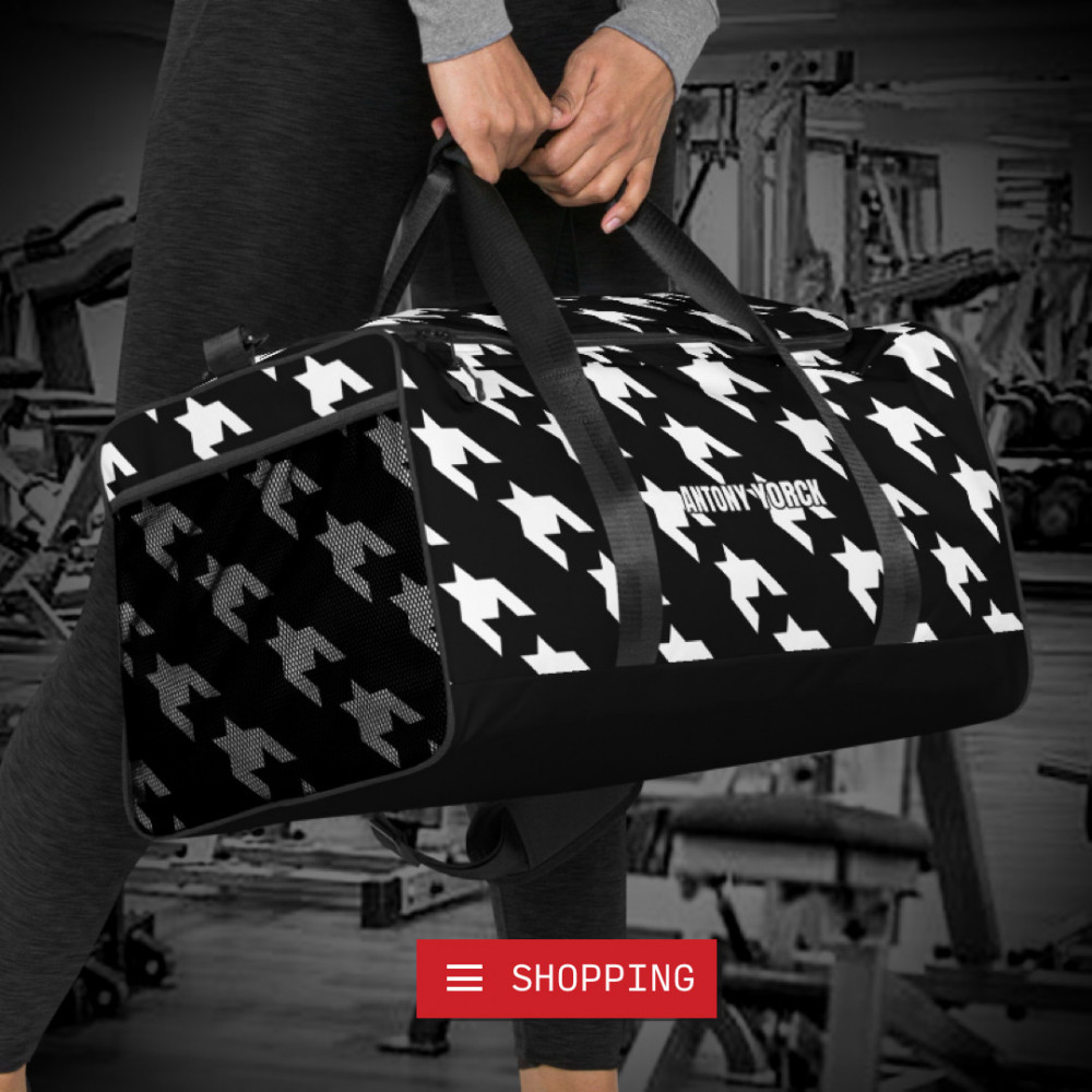 reisetasche trainingstasche houndstooth white black sporttasche weekender