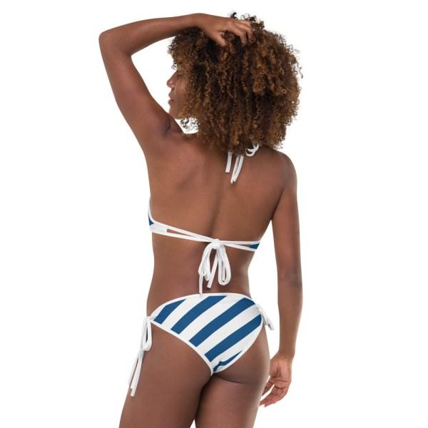Designer Bikinis mit UV-Schutzfaktor blau weiß gestreift 7 all over print bikini white back view of bikini outside 60be64a083fbd