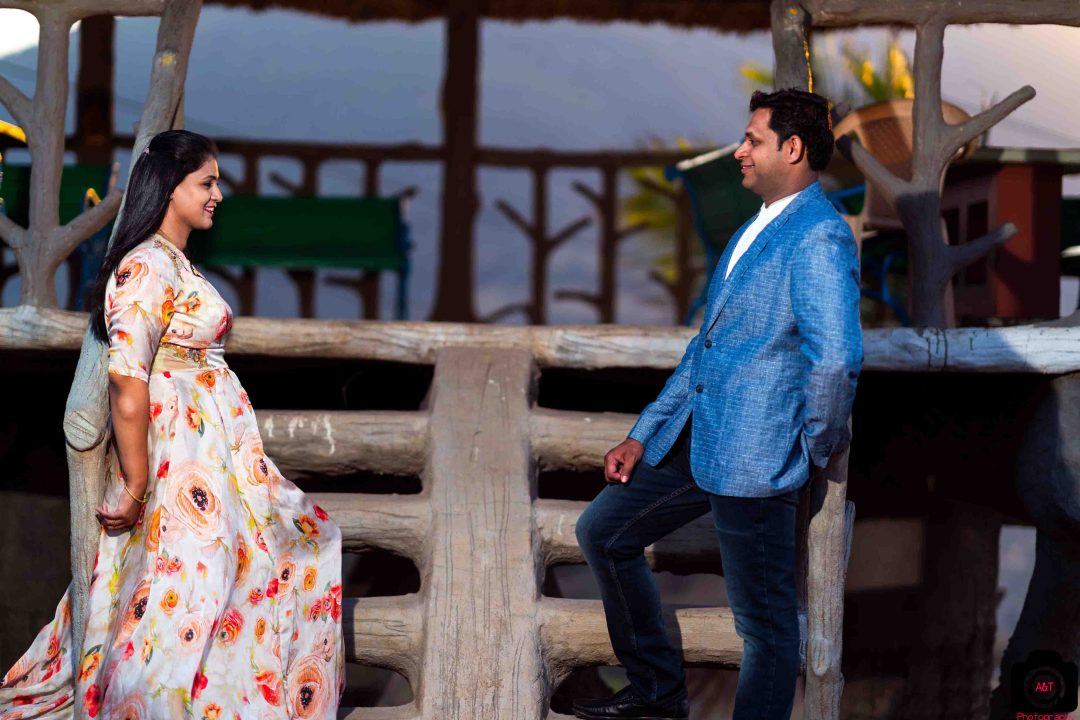 Aparna and Dhanaji Golden Hour Pre wedding in a resort of Pune, India