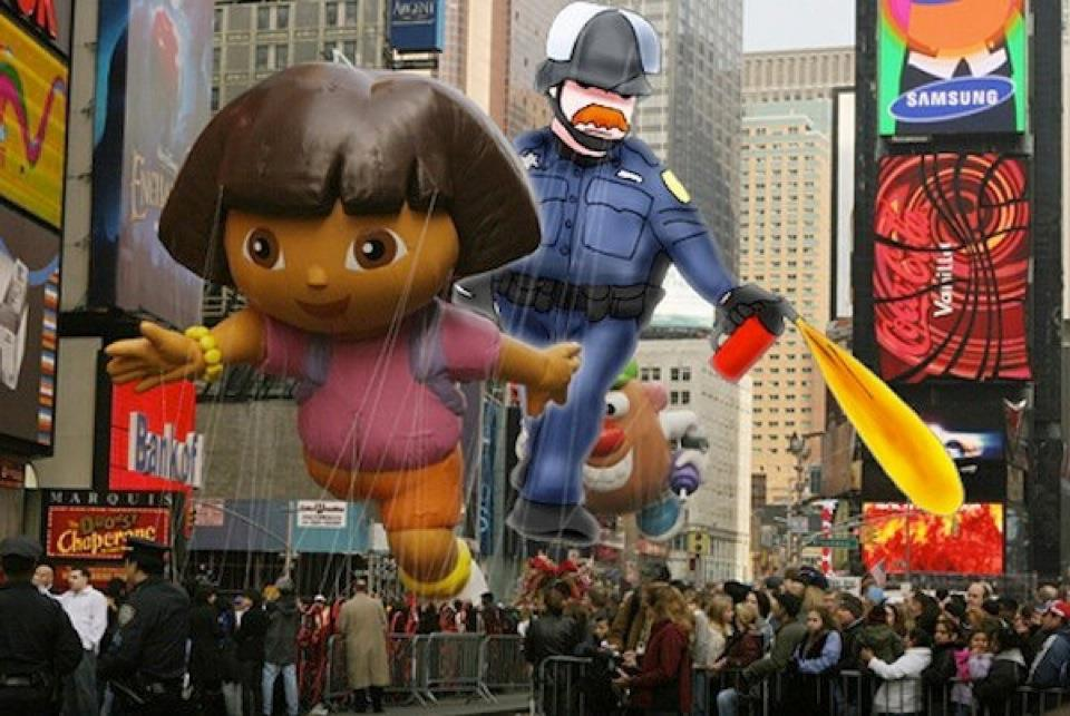 pepper spray cop dora