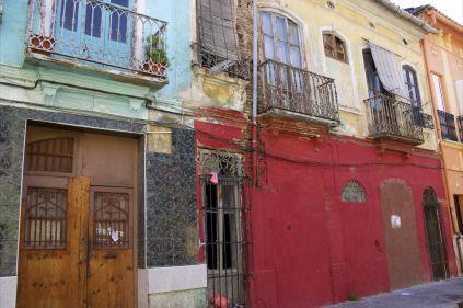 """""""La casa tapiada con la fachada roja era la casa de los Pescadores, de la calle de los Ángeles"""""""