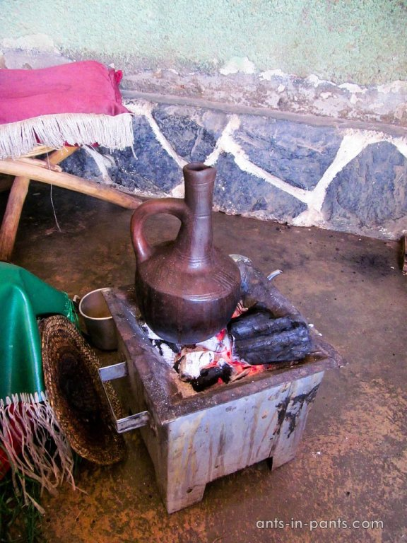 Ethiopian coffee in Kampala
