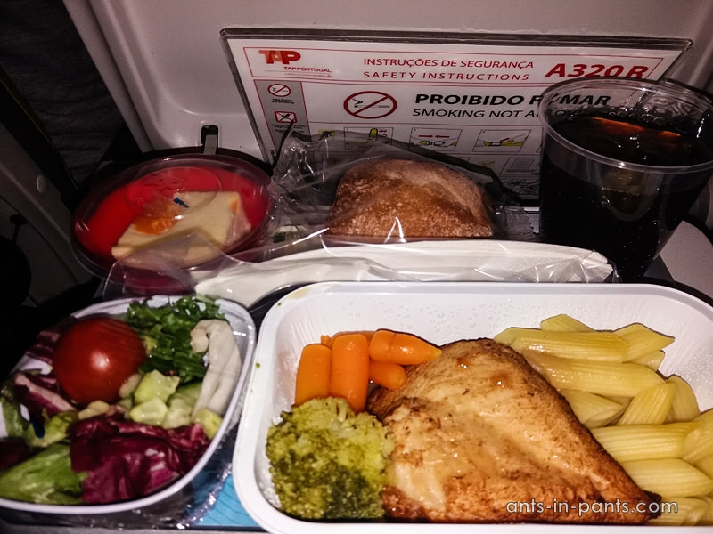 lunch provided by Tap airlaines