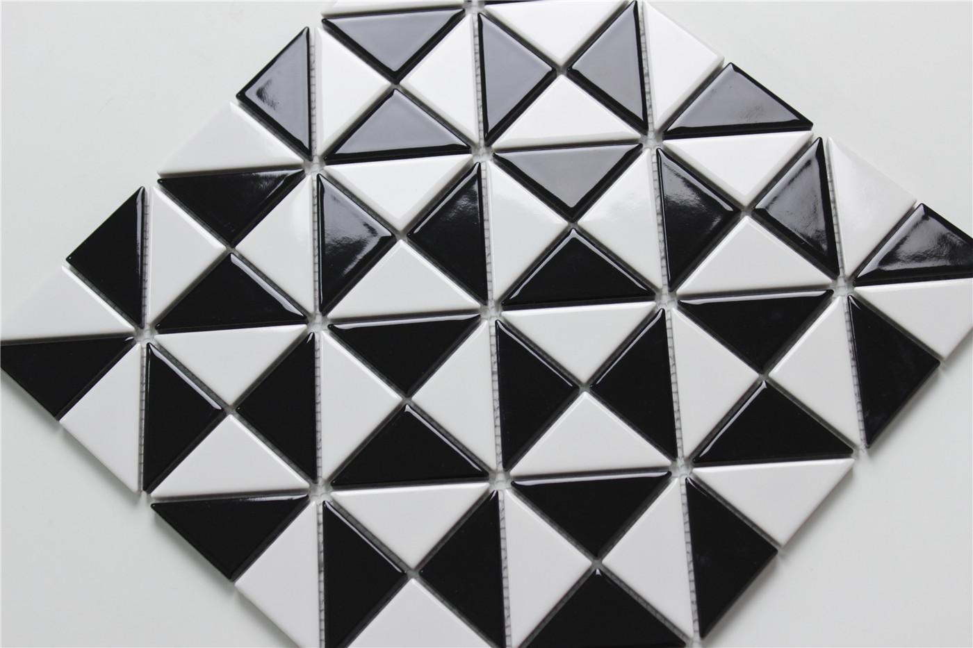 2 Glossy Multi Windmill Pattern Porcelain Triangle Tile