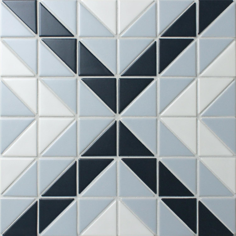 Blue Mountain Square 2 Triangle Geometric Pattern Wall