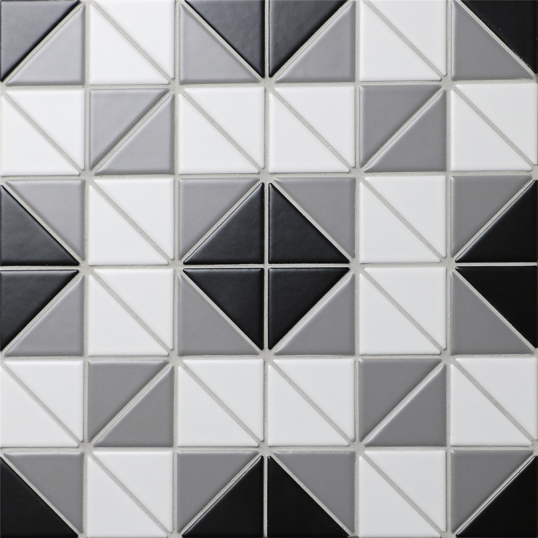 Classic Square 2 Triangle Geometric Tiles Patterns