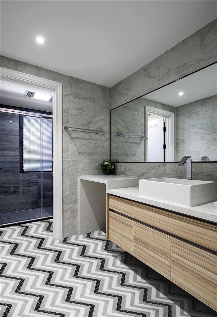 6 ways to incorporate chevron tile