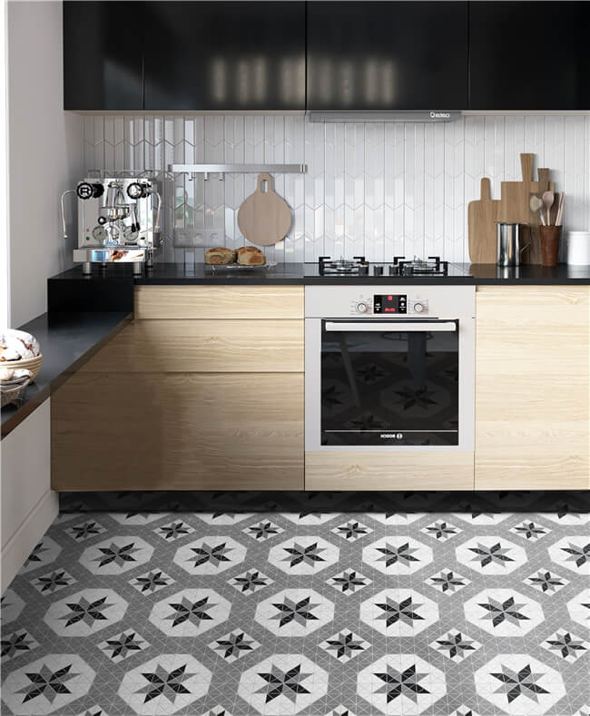 10 Inspired Design Ideas For Small Kitchen Ant Tile Triangle Tiles Mosiacs Floors Kitchen Bathroom Walls Accents