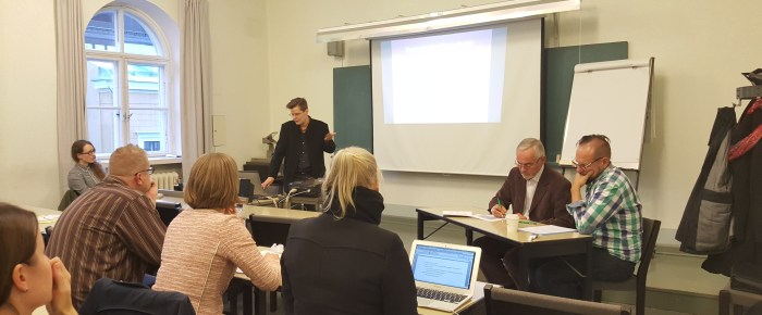 Antu Sorainen talked about Queer Wills at the Socio-Legal Society of Finland