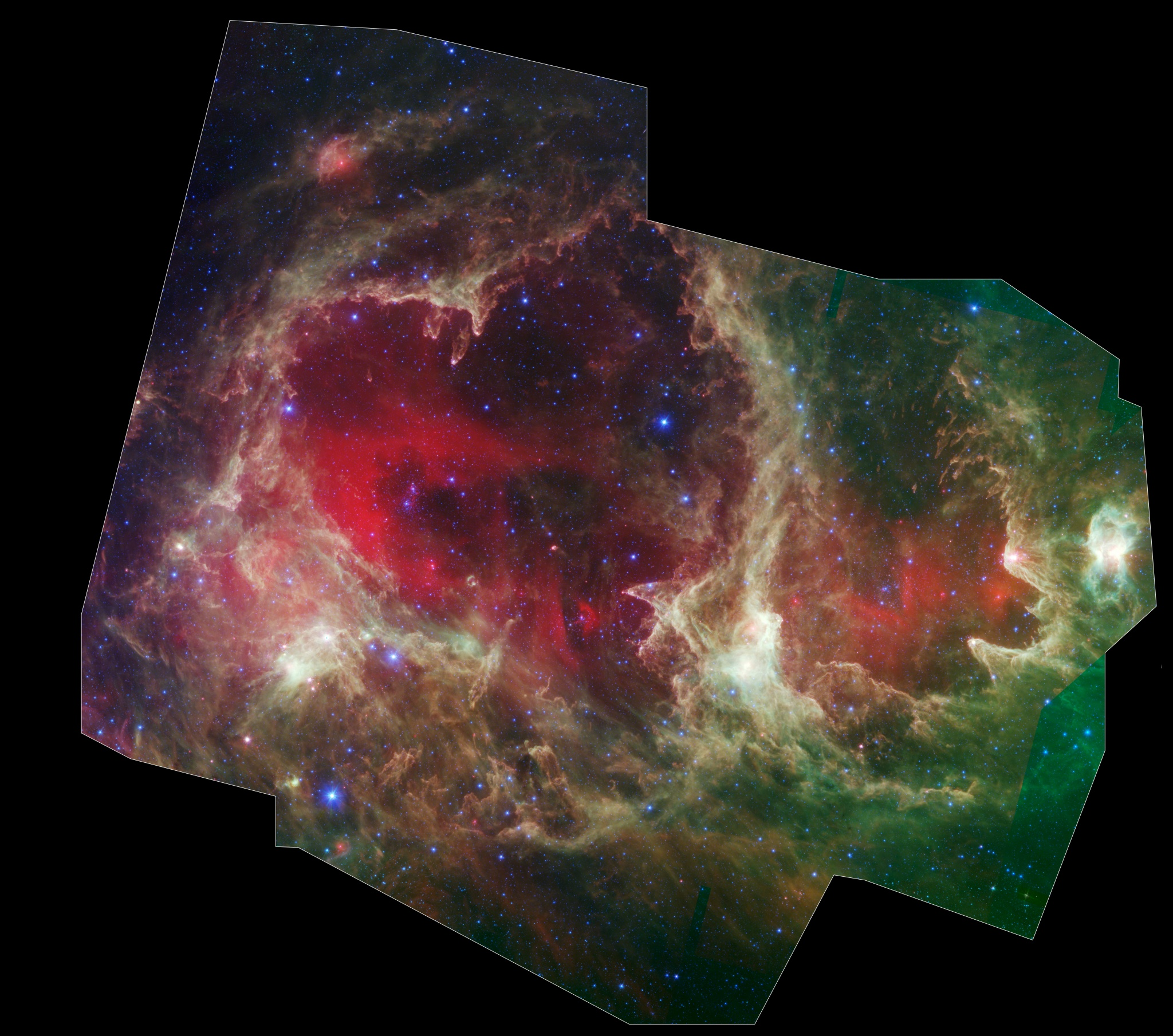 Generations of Stars in W5 Credit Lori Allen, Xavier Koenig (Harvard-Smithsonian CfA) et al., JPL-Caltech, NASA