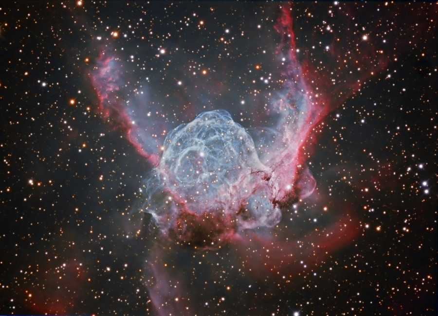 A picture of the Thor's Helmet nebula.