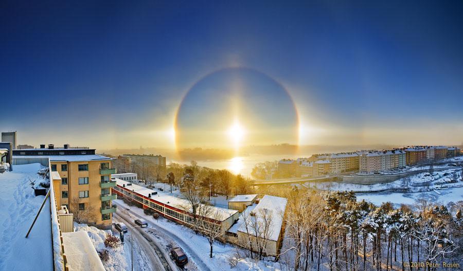 Un halo solar más allá de Estocolmo