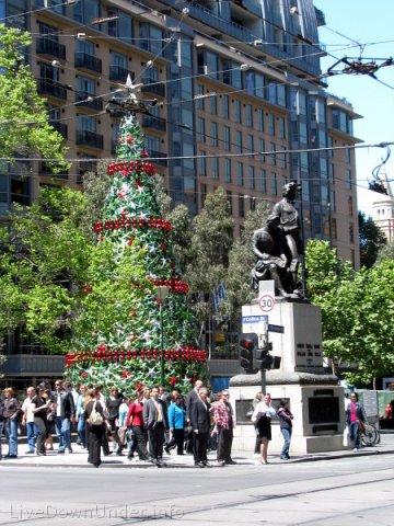 Melbourne City, choinka na City Square