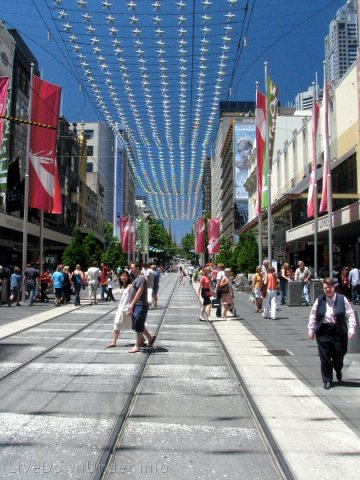 Melbourne, Bourke Street Mall