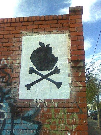 plakat na murze w Prahran