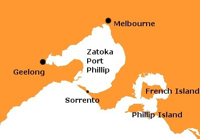 port phillip map